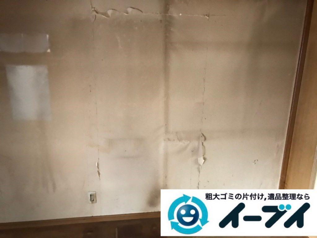 2019年2月6日大阪府大阪市西成区で食器棚の大型家具、洗濯機の大型家電などの粗大ゴミ処分。写真6