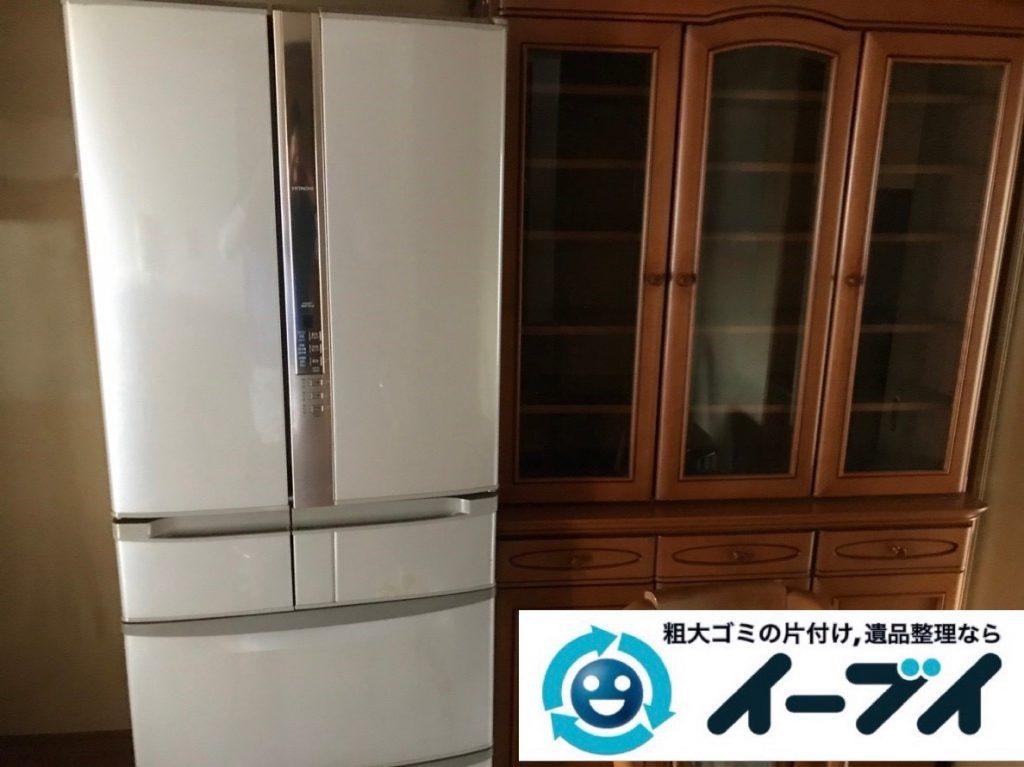 2019年2月6日大阪府大阪市西成区で食器棚の大型家具、洗濯機の大型家電などの粗大ゴミ処分。写真5