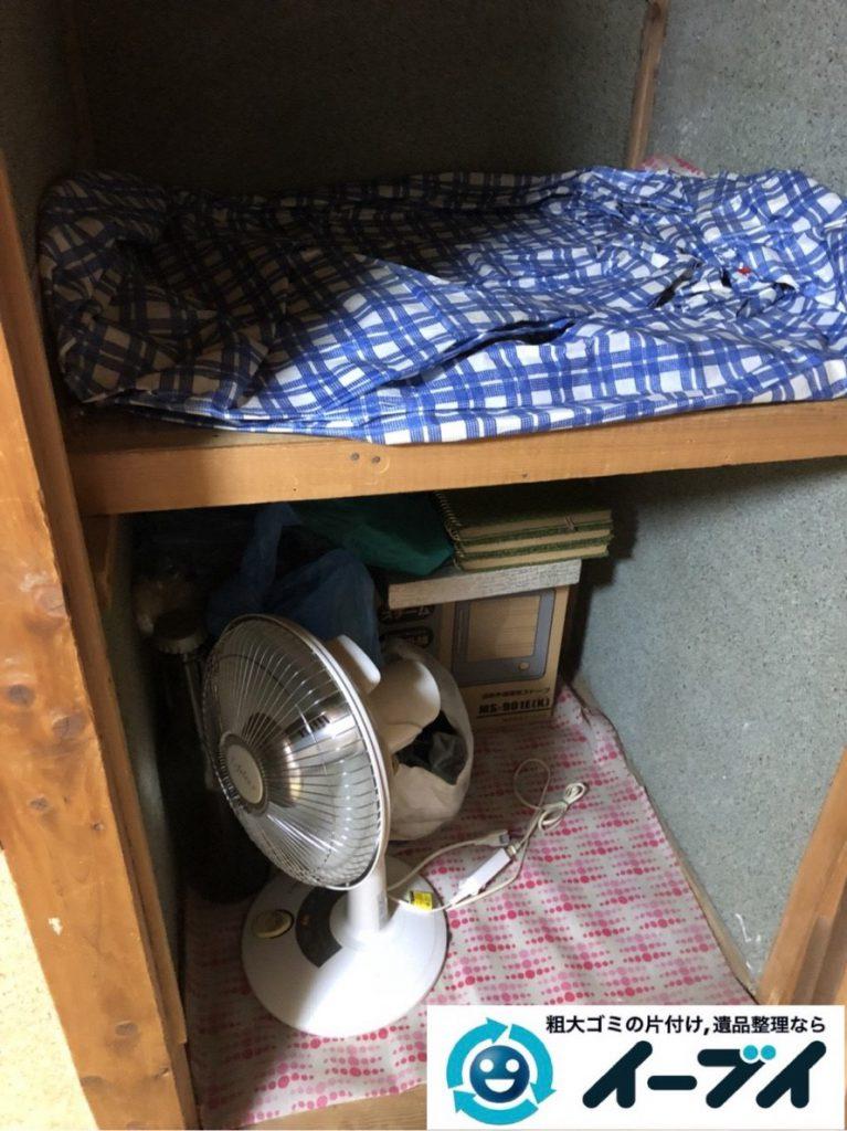 2019年2月7日大阪府守口市でお部屋と押し入れの不用品の片付けをさせていただきました。写真3