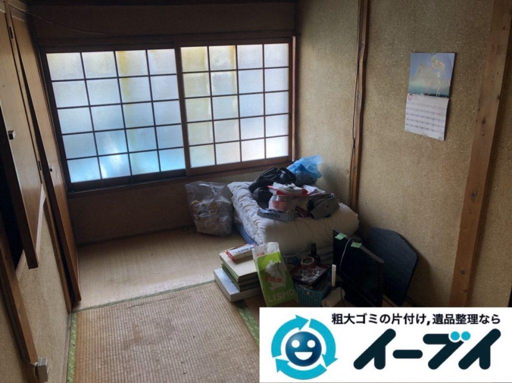 2019年2月7日大阪府守口市でお部屋と押し入れの不用品の片付けをさせていただきました。写真2