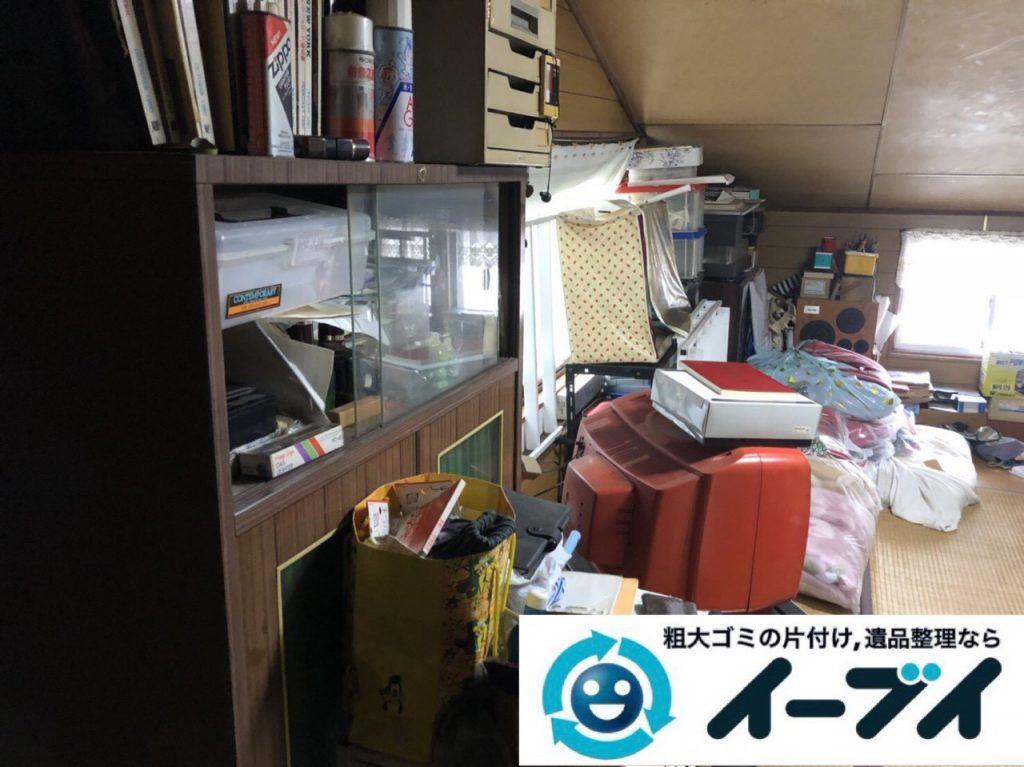 2019年3月3日大阪府熊取市で屋根裏部屋の片付けをさせていただきました。   写真3