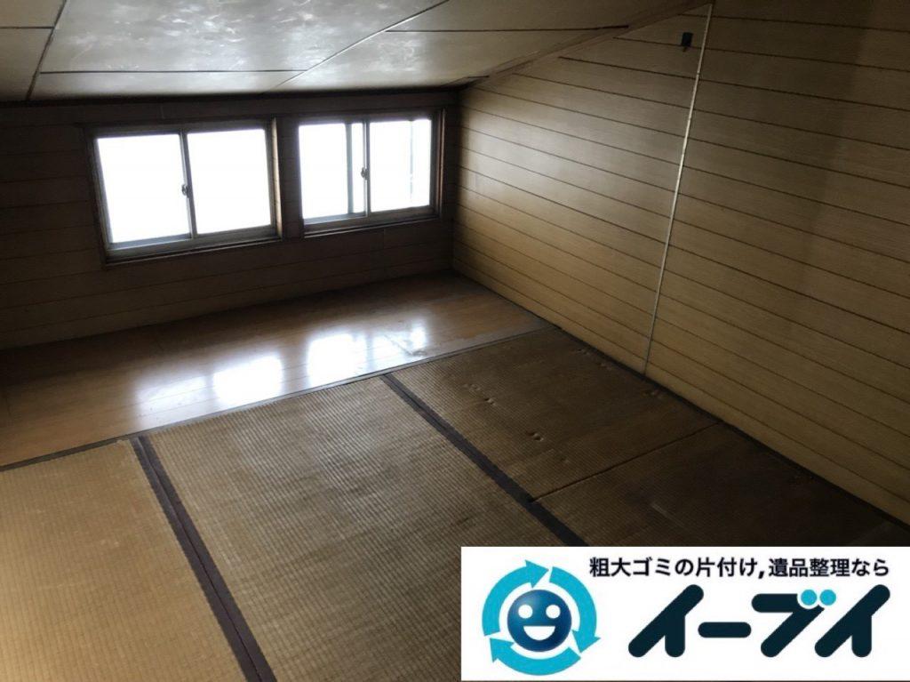 2019年3月3日大阪府熊取市で屋根裏部屋の片付けをさせていただきました。   写真2