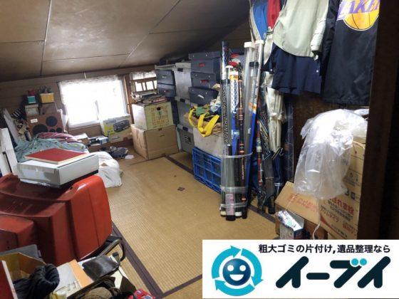 2019年3月3日大阪府熊取市で屋根裏部屋の片付けをさせていただきました。 写真1