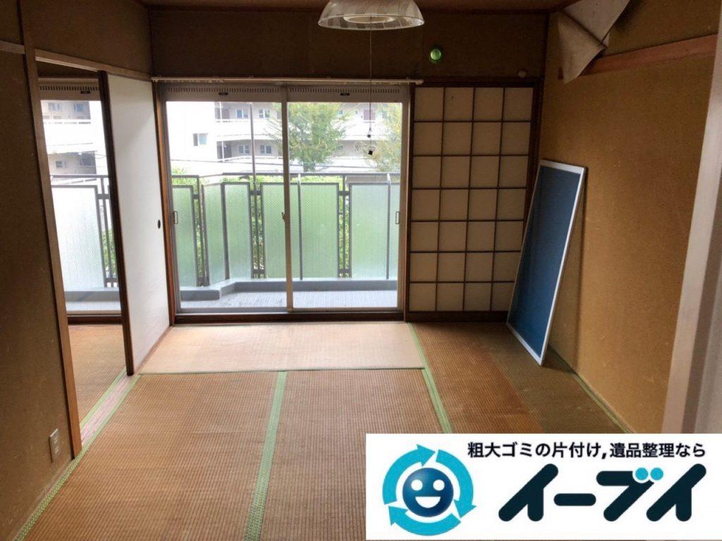 2019年3月2日大阪府吹田市で引越しに伴い家財道具など全ての不用品回収。写真1