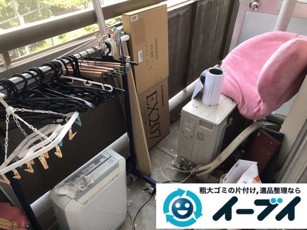 2019年3月7日大阪府堺市北区でベランダと浴室の不用品回収をさせていただきました。写真3