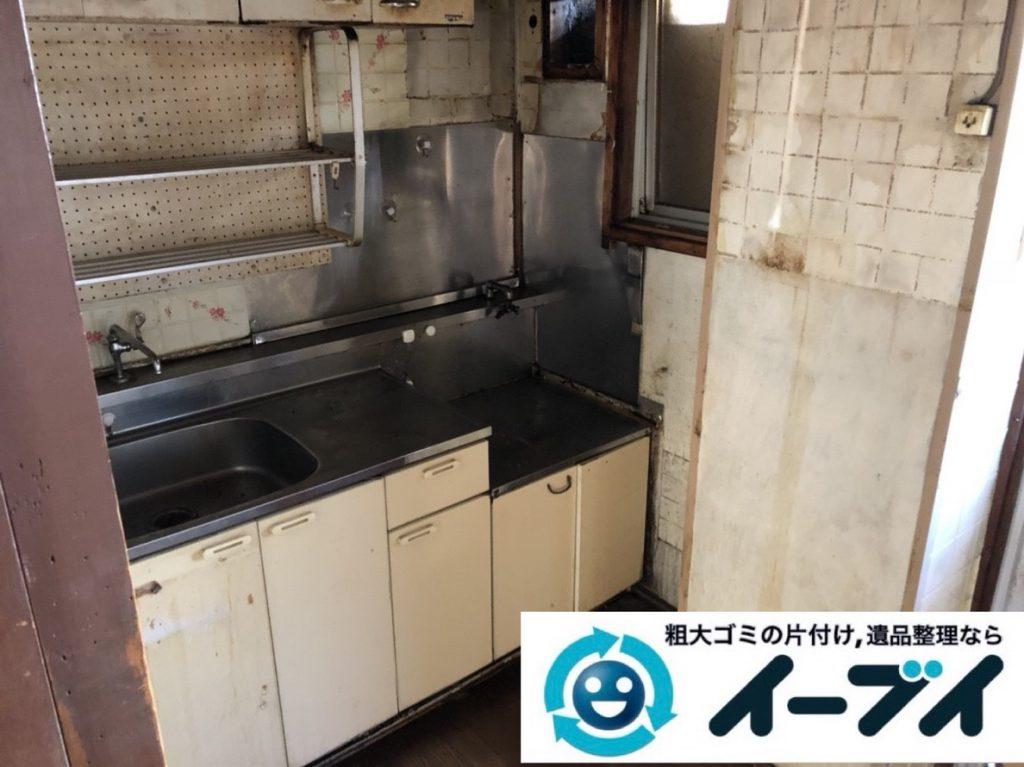 2019年3月5日大阪府吹田市で台所などの不用品回収作業。写真2