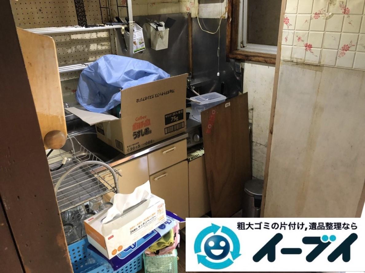 2019年3月5日大阪府吹田市で台所などの不用品回収作業。写真1