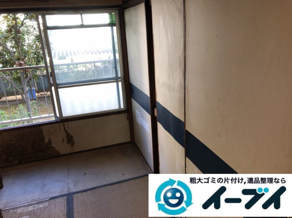 2019年3月6日大阪府富田林市で物やゴミが散乱しゴミ屋敷化した汚部屋を片付けさせていただきました。写真4