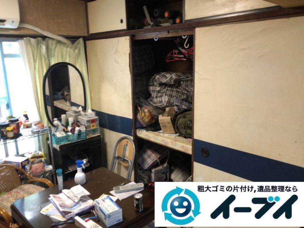 2019年3月6日大阪府富田林市で物やゴミが散乱しゴミ屋敷化した汚部屋を片付けさせていただきました。写真3