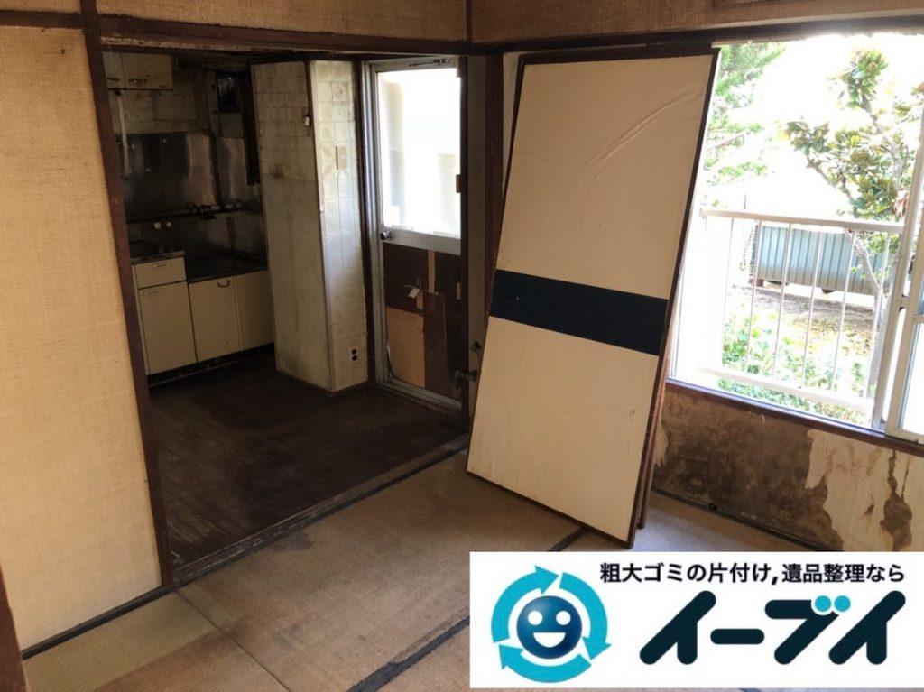 2019年3月6日大阪府富田林市で物やゴミが散乱しゴミ屋敷化した汚部屋を片付けさせていただきました。写真2