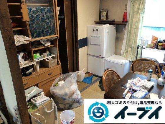2019年3月6日大阪府富田林市で物やゴミが散乱しゴミ屋敷化した汚部屋を片付けさせていただきました。写真1