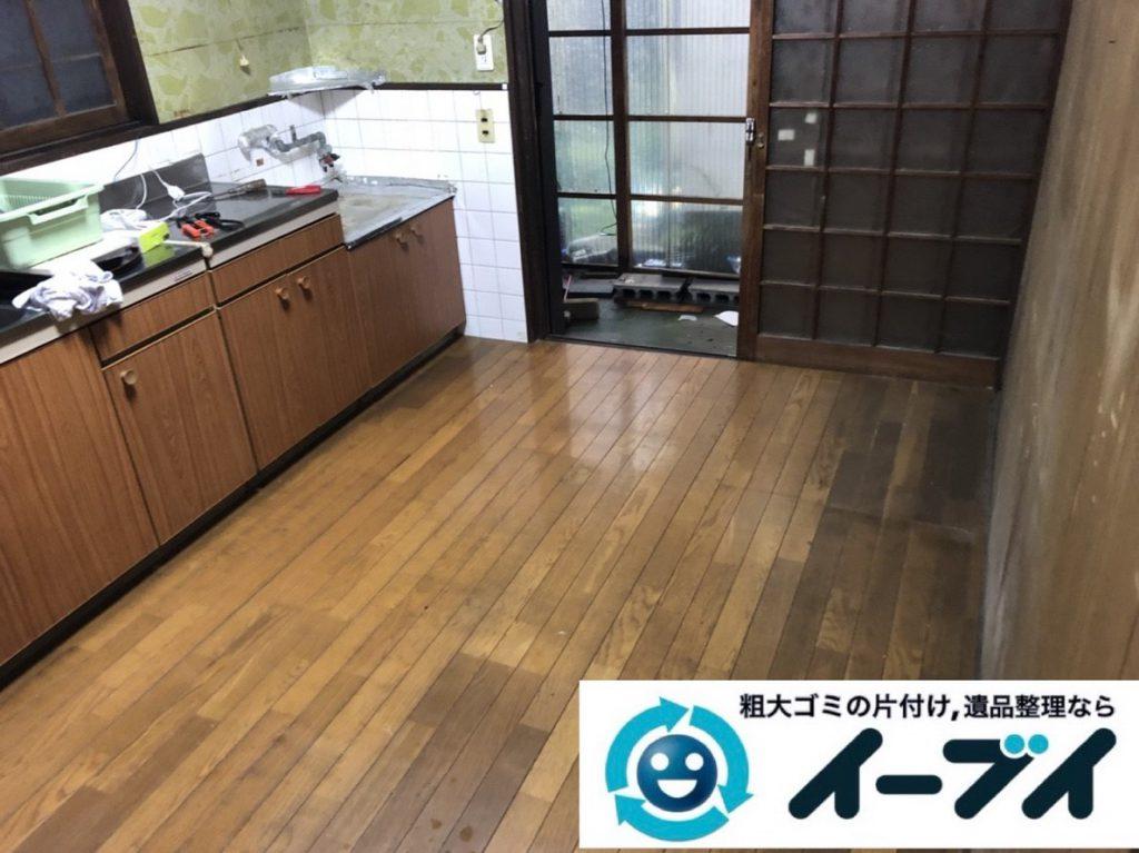 2019年2月23日大阪府泉佐野市で台所や階段下のスペースを片付けさせていただきました。写真4