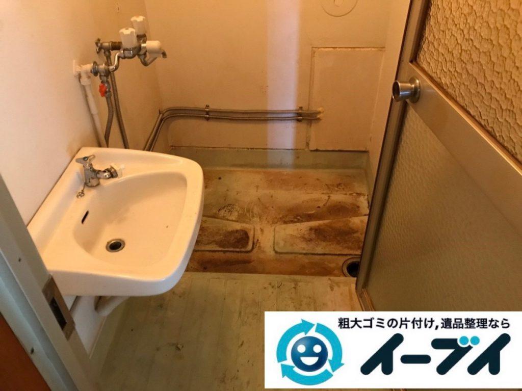 2019年3月1日大阪府千早赤阪村で浴室やトイレの不用品回収。写真6