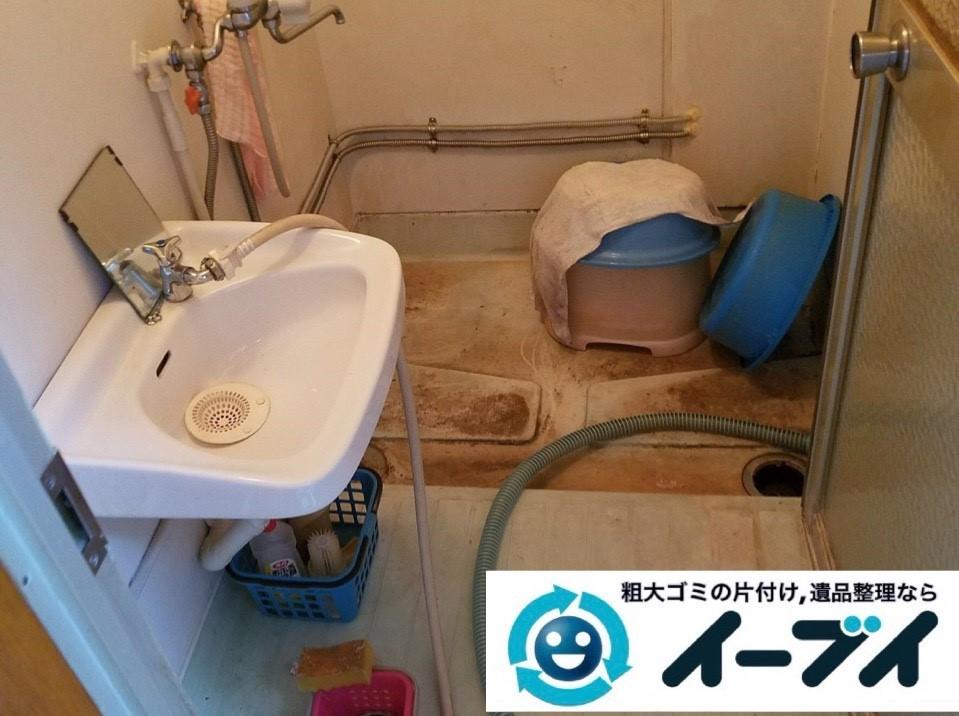 2019年3月1日大阪府千早赤阪村で浴室やトイレの不用品回収。写真5