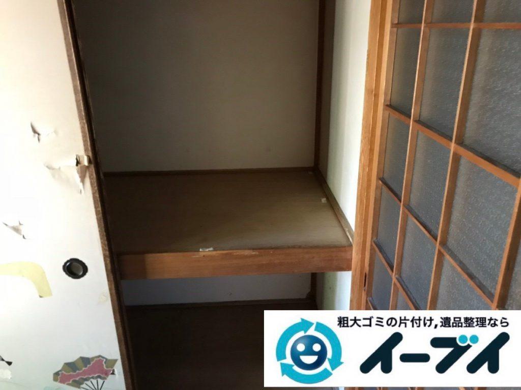 2019年2月26日大阪府交野市で押し入れの片付けや収納棚の家具処分をさせていただきました。写真4