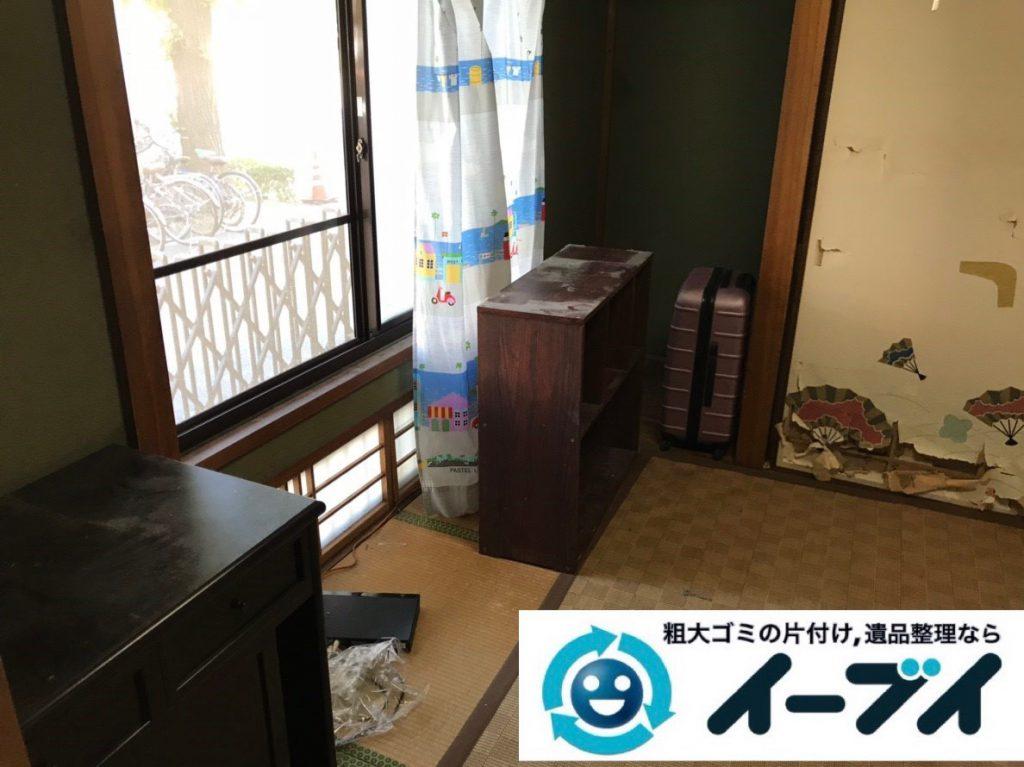2019年2月26日大阪府交野市で押し入れの片付けや収納棚の家具処分をさせていただきました。写真1