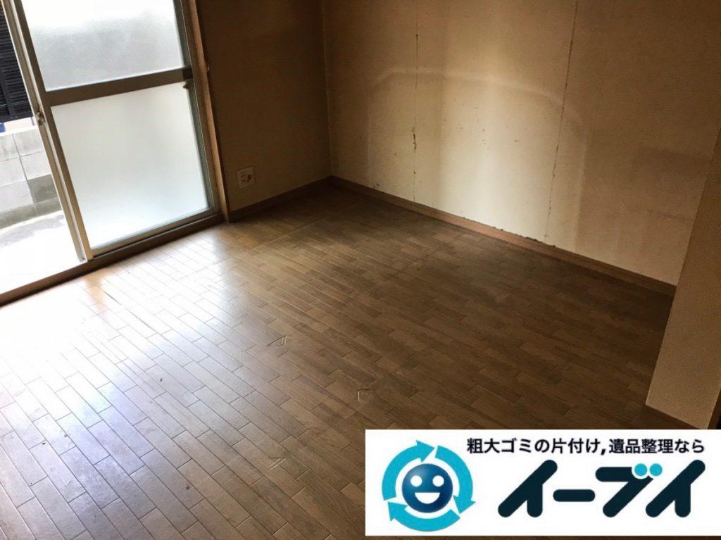 2019年2月27日大阪府田尻町で退去に伴い箪笥やベッドの大型家具の不用品回収。写真4