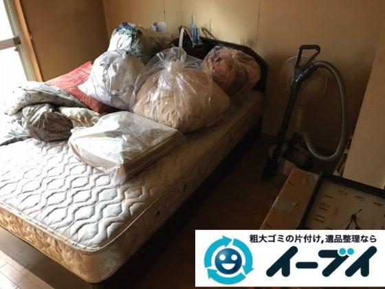 2019年2月27日大阪府田尻町で退去に伴い箪笥やベッドの大型家具の不用品回収。写真3