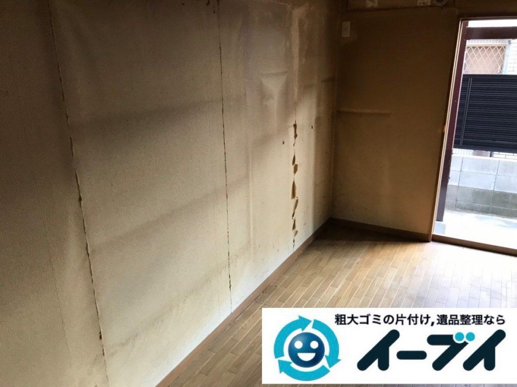 2019年2月27日大阪府田尻町で退去に伴い箪笥やベッドの大型家具の不用品回収。写真2