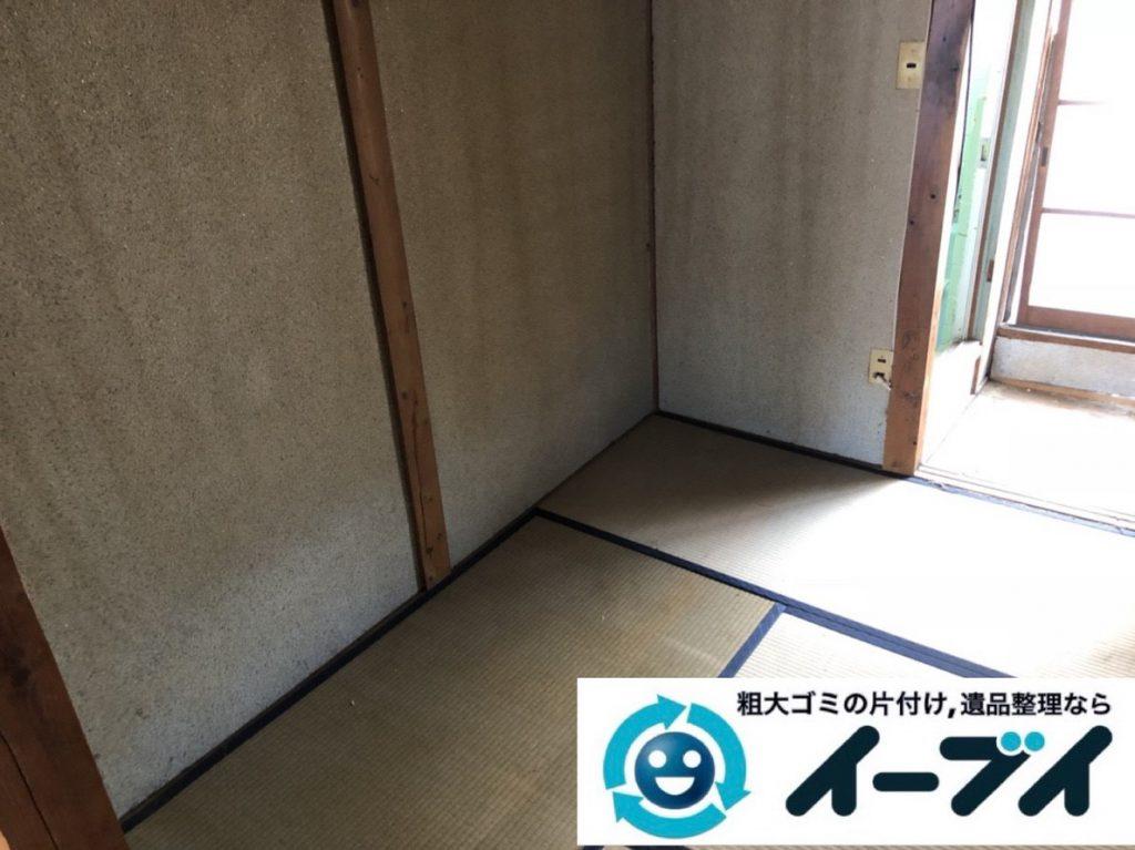 2019年2月28日大阪府泉南市で物やゴミが散乱しゴミ屋敷化した汚部屋を片付けさせていただきました。写真4