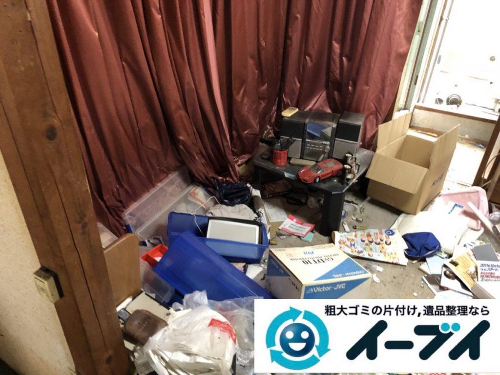 2019年2月28日大阪府泉南市で物やゴミが散乱しゴミ屋敷化した汚部屋を片付けさせていただきました。写真3