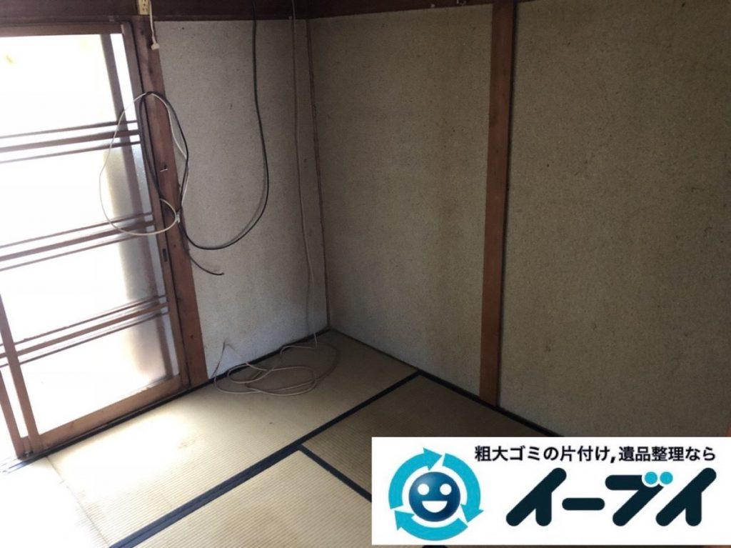 2019年2月28日大阪府泉南市で物やゴミが散乱しゴミ屋敷化した汚部屋を片付けさせていただきました。写真2