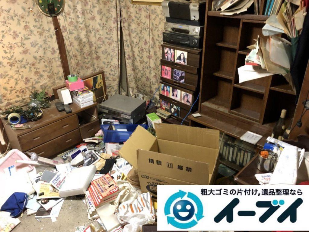 2019年2月28日大阪府泉南市で物やゴミが散乱しゴミ屋敷化した汚部屋を片付けさせていただきました。写真1