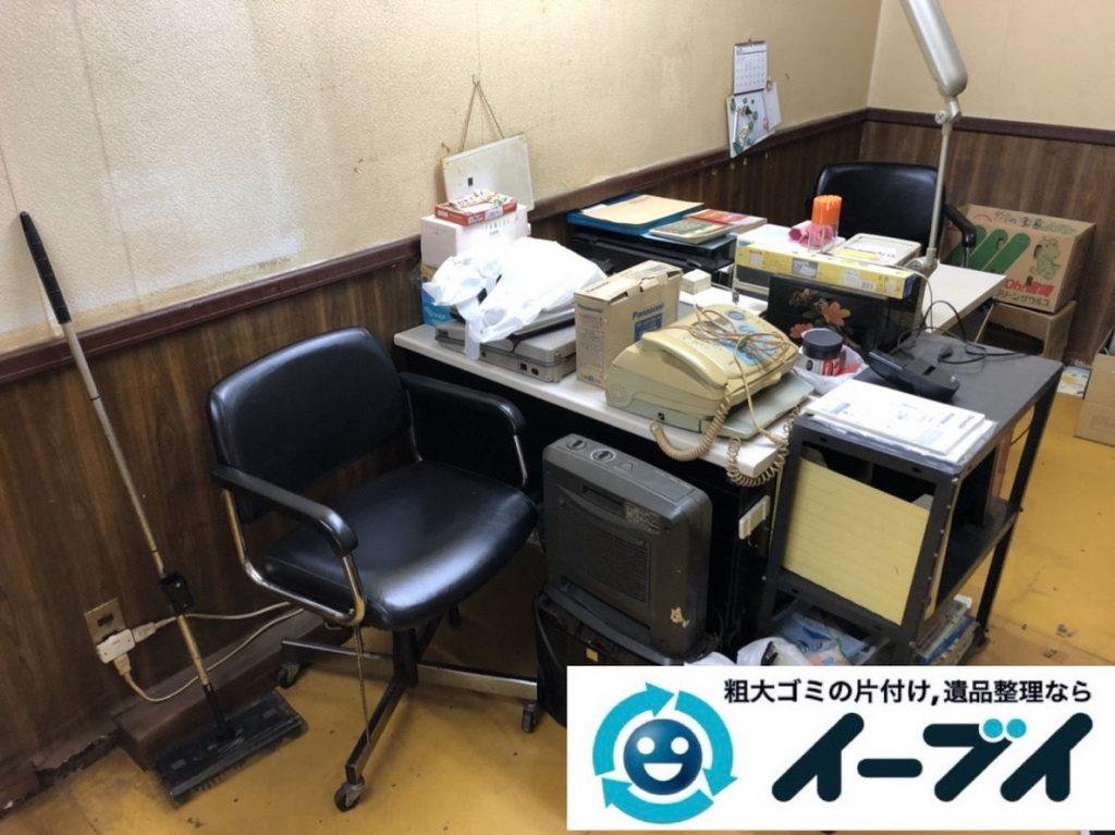 2019年2月25日大阪府泉南市で引越しに伴い不要になった家具や家電などの回収作業。写真1