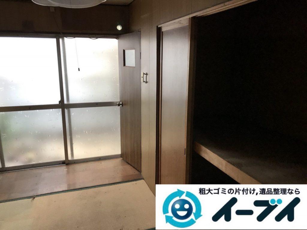 2019年4月9日大阪府四条畷市でお家の家財道具を一式不用品回収しました。写真4