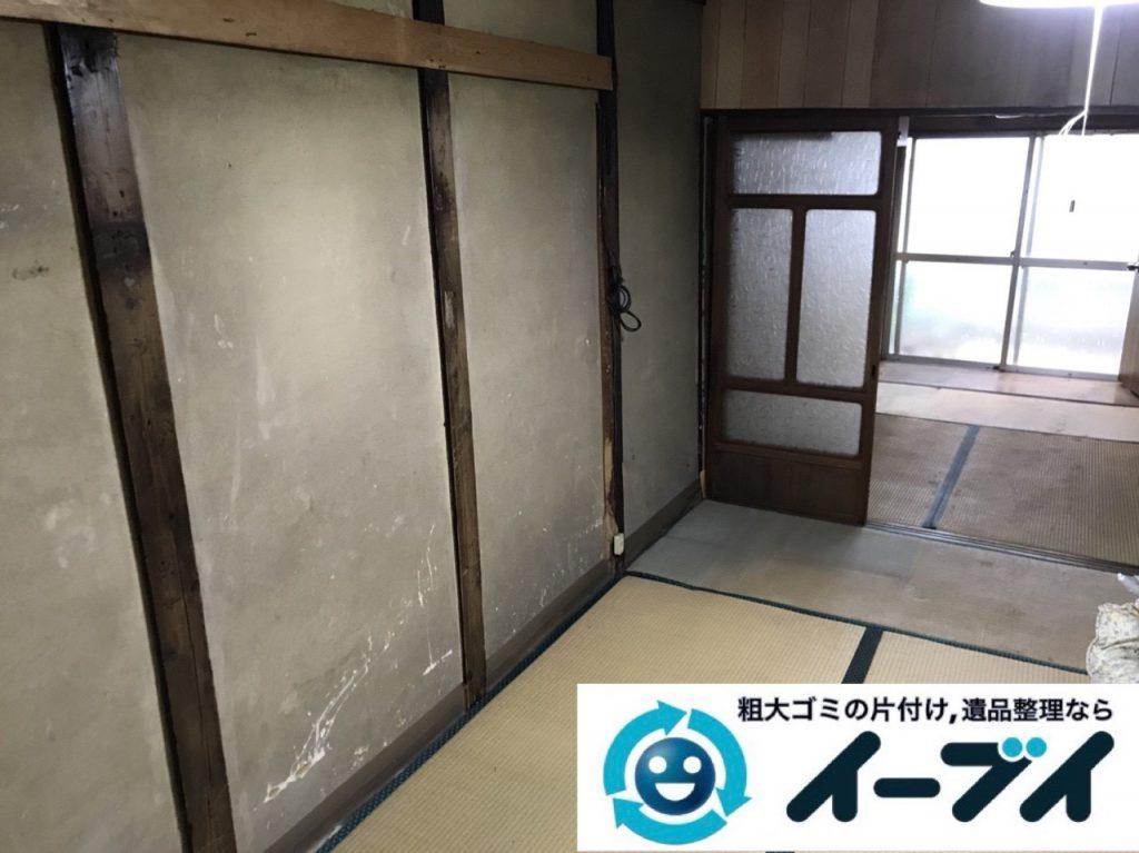 2019年4月9日大阪府四条畷市でお家の家財道具を一式不用品回収しました。写真2