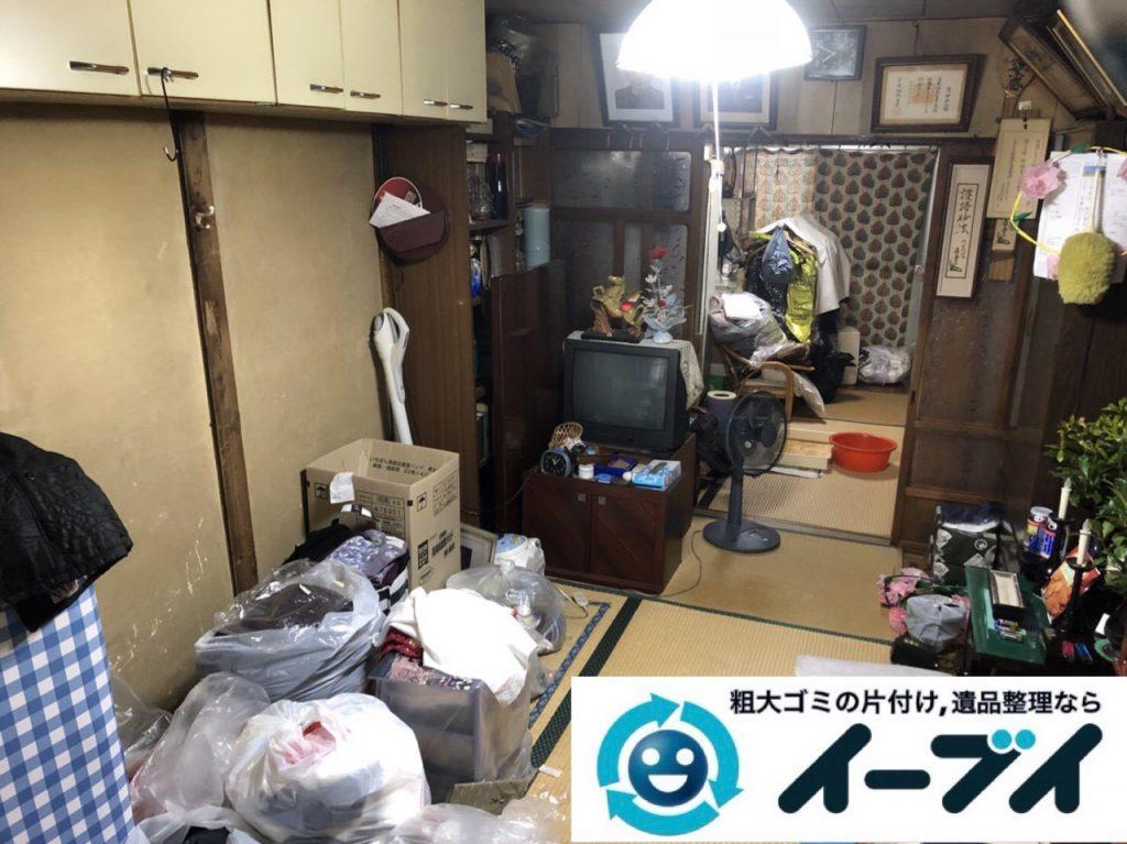 2019年4月9日大阪府四条畷市でお家の家財道具を一式不用品回収しました。写真1