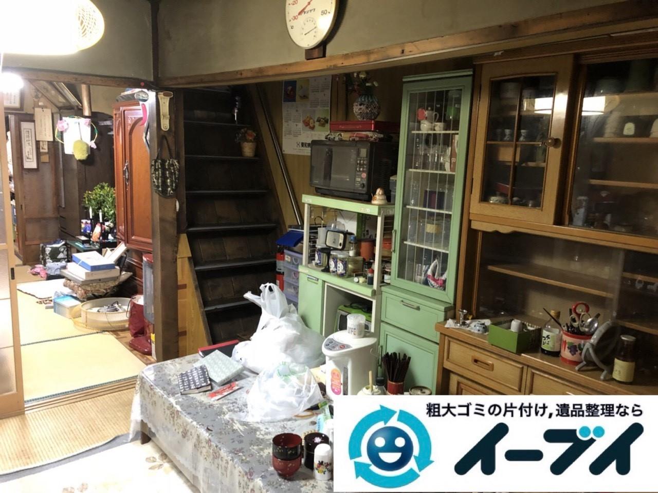 2019年4月5日大阪府大阪市東住吉区で退去に伴い、お家の家財道具一式処分させていただきました。写真1