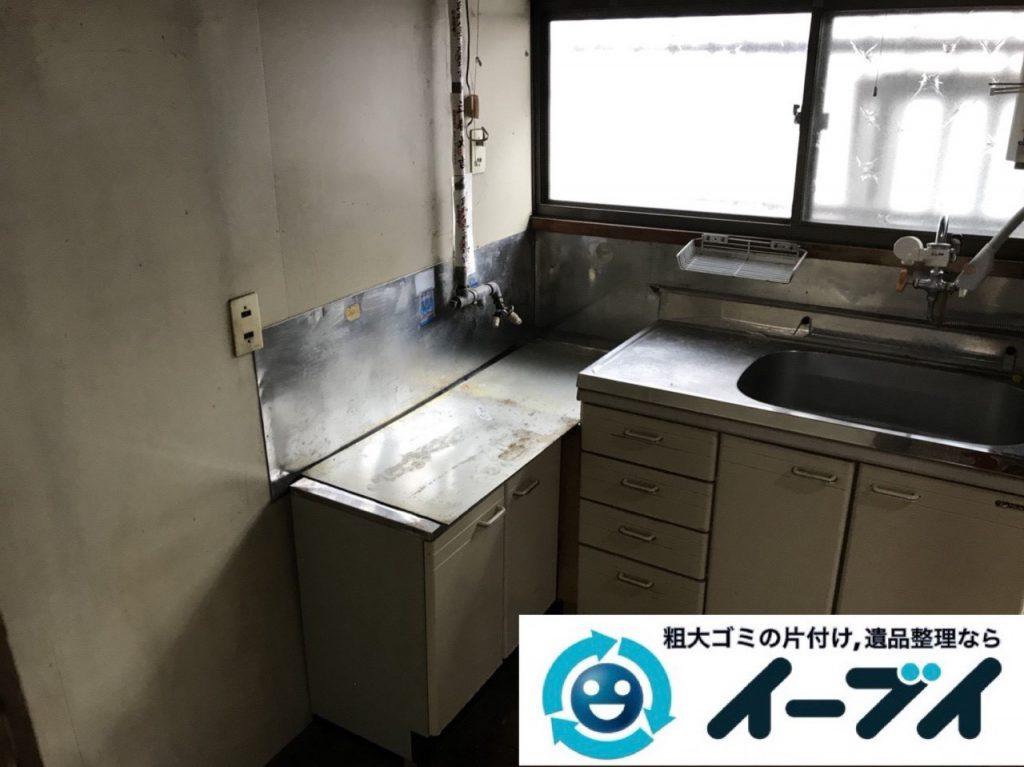 2019年4月2日大阪府大阪市住吉区で引越しに伴い台所と玄関の不用品回収。写真4