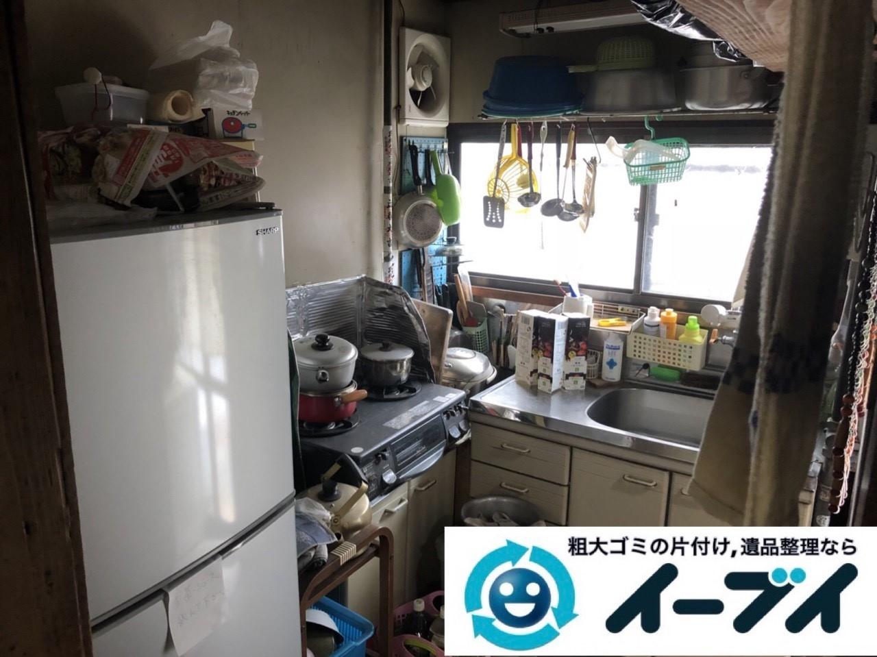 2019年4月2日大阪府大阪市住吉区で引越しに伴い台所と玄関の不用品回収。写真3