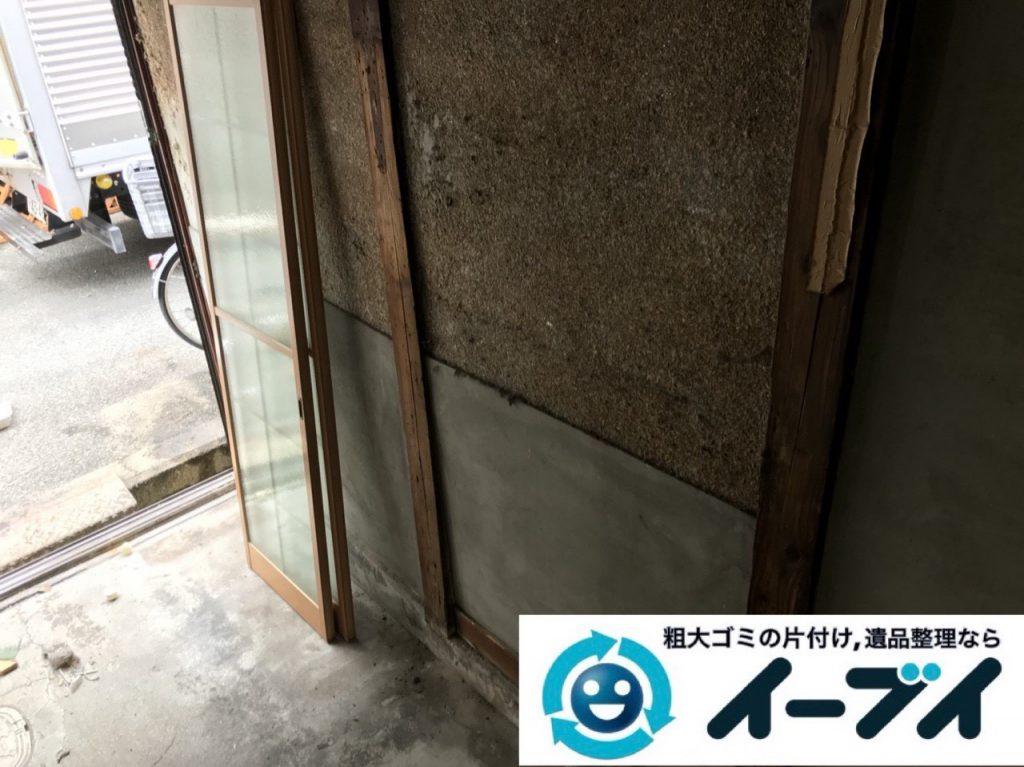 2019年4月2日大阪府大阪市住吉区で引越しに伴い台所と玄関の不用品回収。写真2
