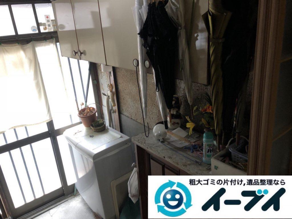 2019年4月2日大阪府大阪市住吉区で引越しに伴い台所と玄関の不用品回収。写真1