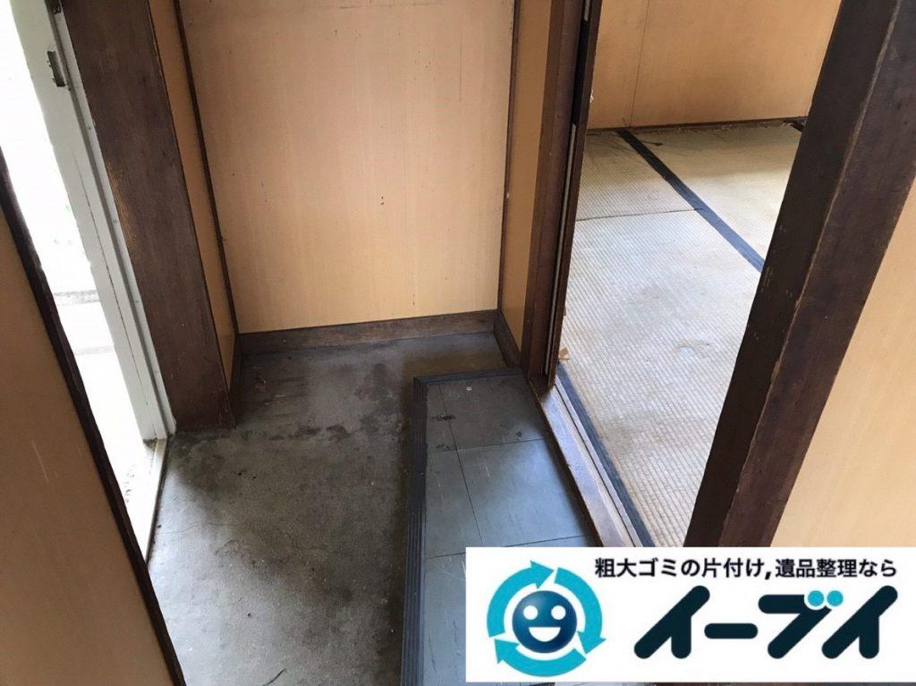 2019年3月14日大阪府堺市堺区でゴミ屋敷化した汚部屋の片付け作業。写真4