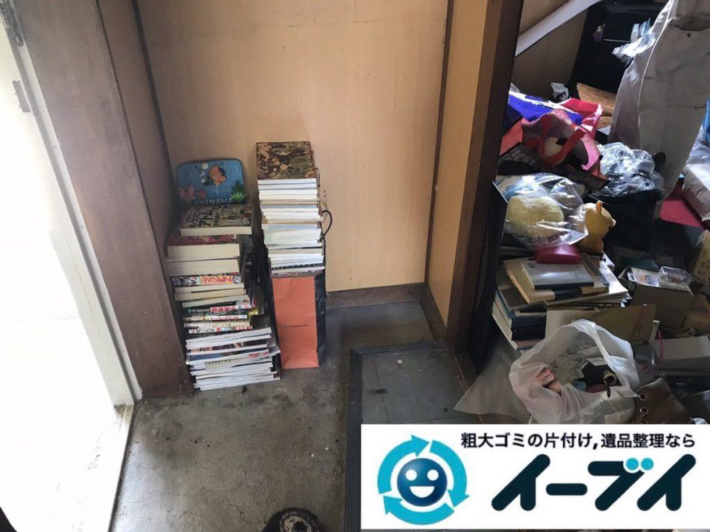 2019年3月14日大阪府堺市堺区でゴミ屋敷化した汚部屋の片付け作業。写真3