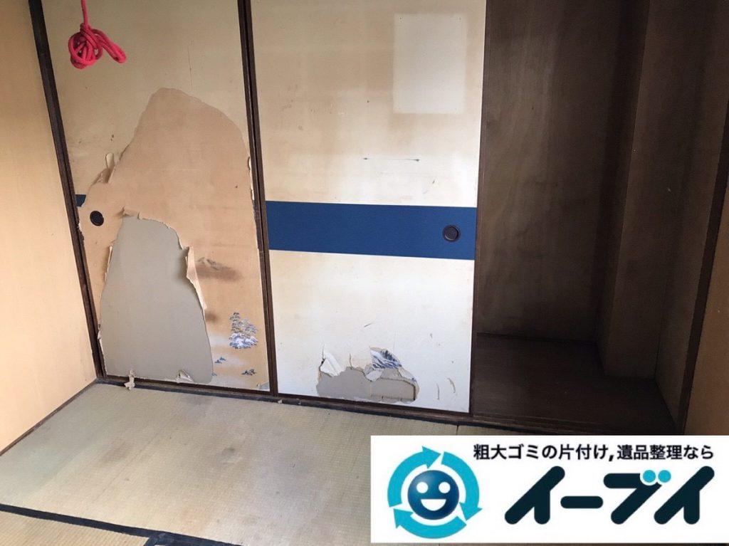 2019年3月14日大阪府堺市堺区でゴミ屋敷化した汚部屋の片付け作業。写真2