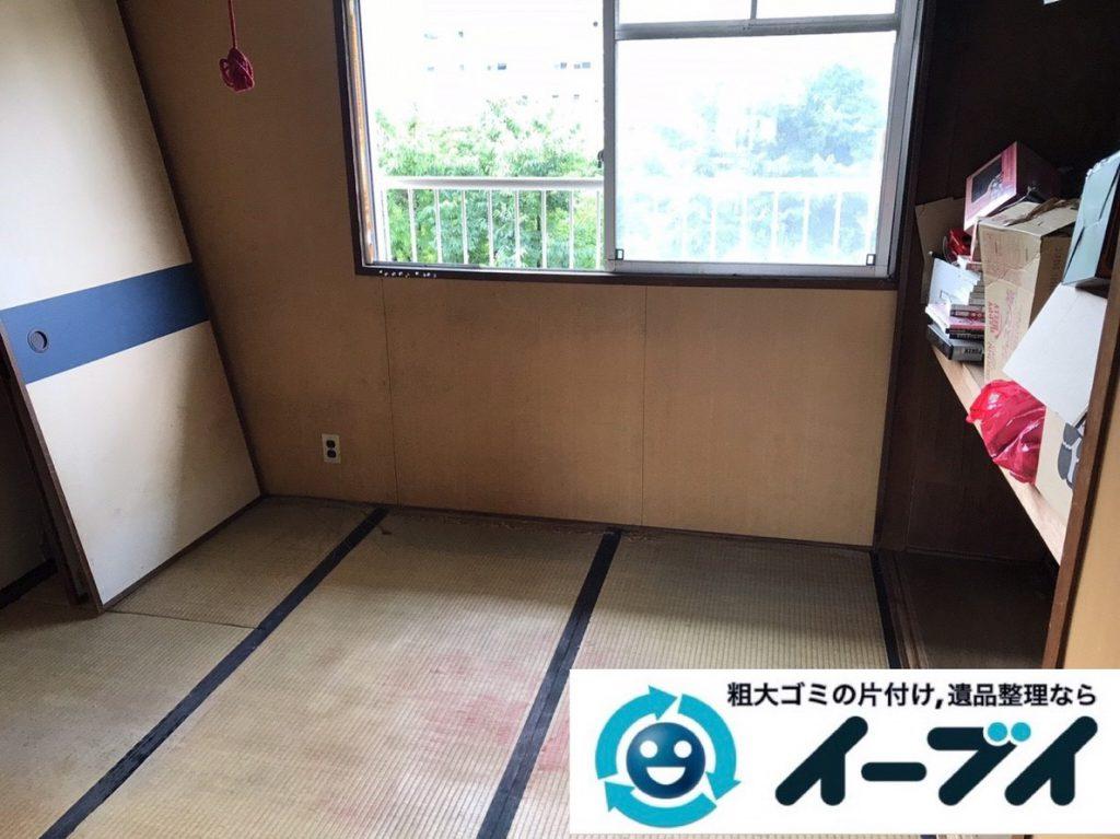 2019年3月26日大阪府堺市東区で生活用品や日用雑貨など散乱したゴミ屋敷を片付けさせていただきました。写真2
