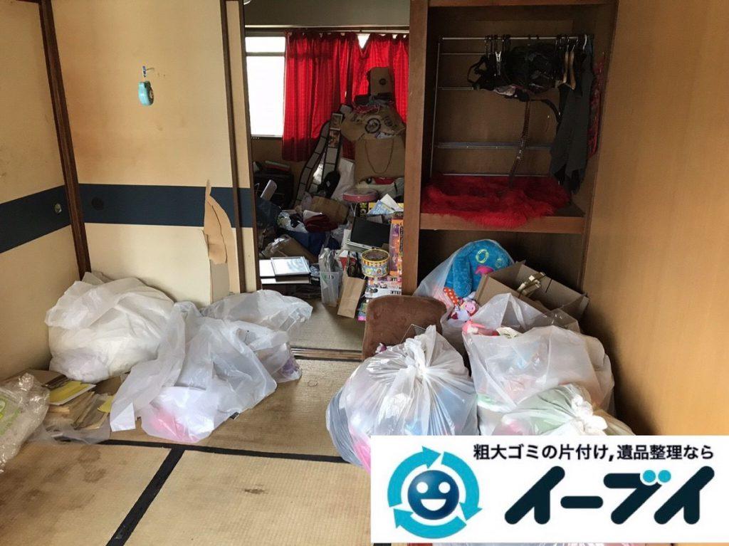2019年4月1日大阪府大阪市住之江区でゴミ屋敷一歩手前の汚部屋の片付け作業。写真2