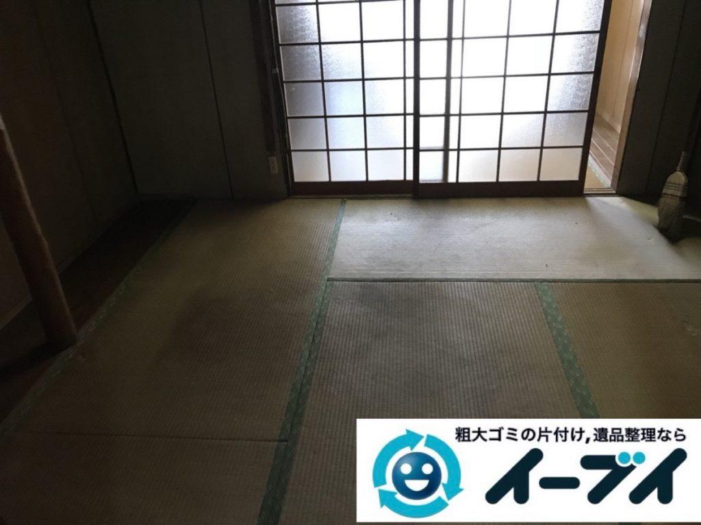 2019年3月9日大阪府四条畷市で箪笥の大型家具や小家電などを回収させていただきました。写真3