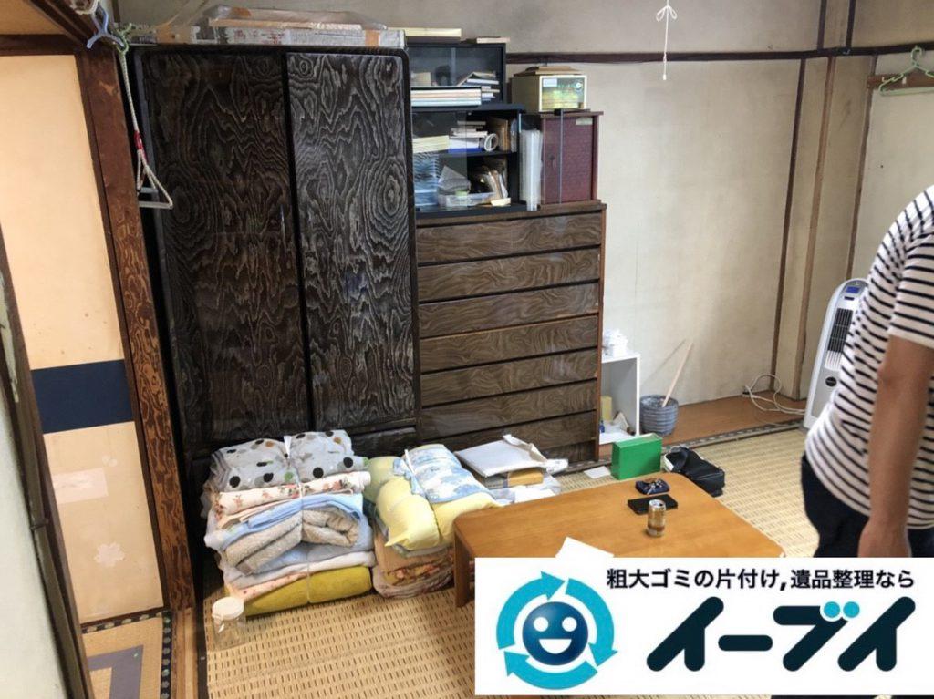 2018年3月8日大阪府和泉市で退去に伴い箪笥の大型家具処分などをさせていただきました。写真1