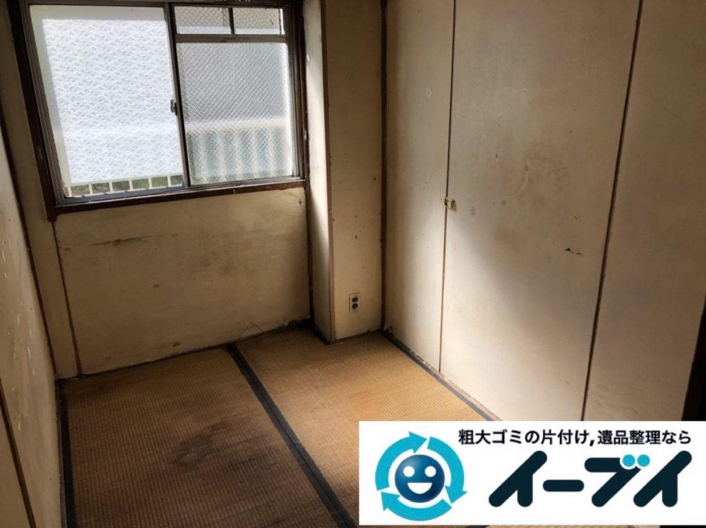 2019年3月9日大阪府和泉市で足の踏み場がないゴミ屋敷化した汚部屋の片付け作業。写真4