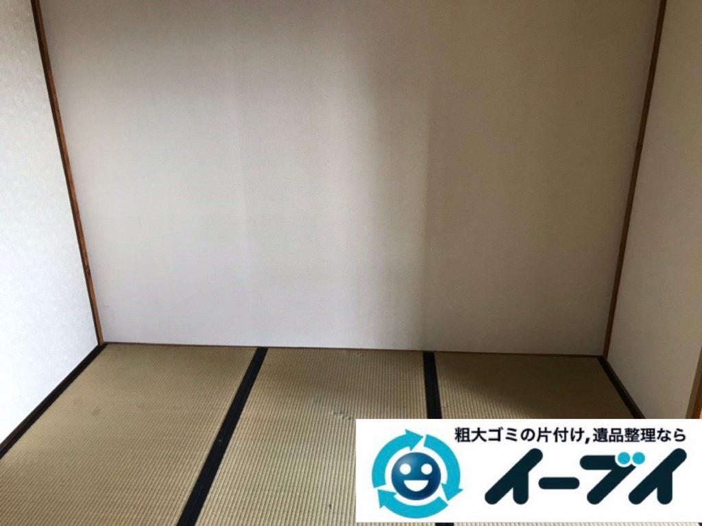 2019年4月6日大阪府大阪市西成区でお家の家財道具の不用品回収。写真4
