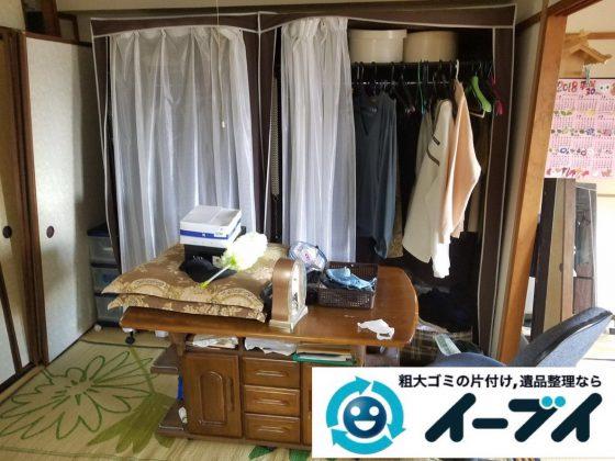 2019年4月6日大阪府大阪市西成区でお家の家財道具の不用品回収。写真3
