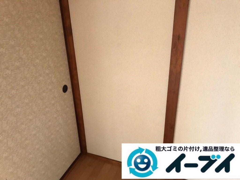 2019年4月6日大阪府大阪市西成区でお家の家財道具の不用品回収。写真2