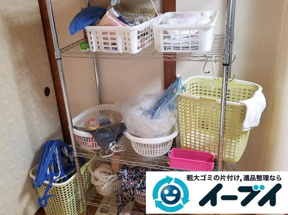 2019年4月6日大阪府大阪市西成区でお家の家財道具の不用品回収。写真1