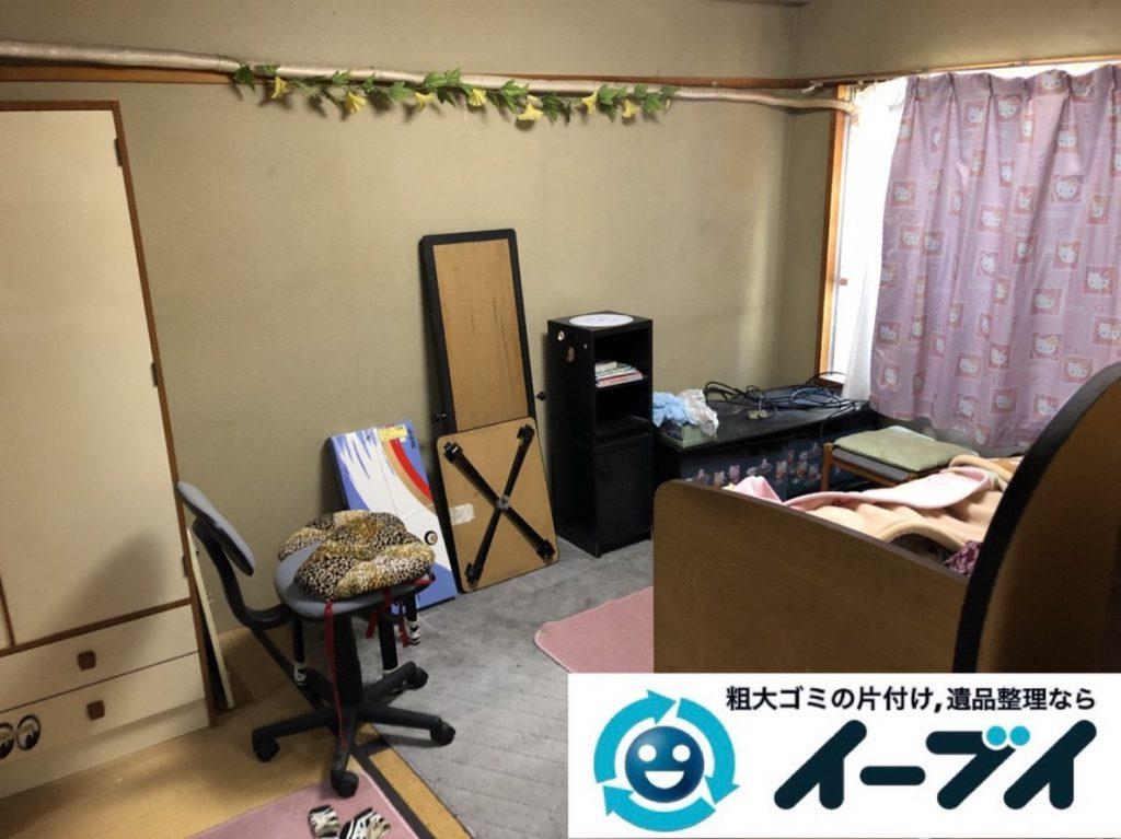 2019年3月25日大阪府大阪市此花区で退去に伴い、お家の家財道具の不用品回収。写真3