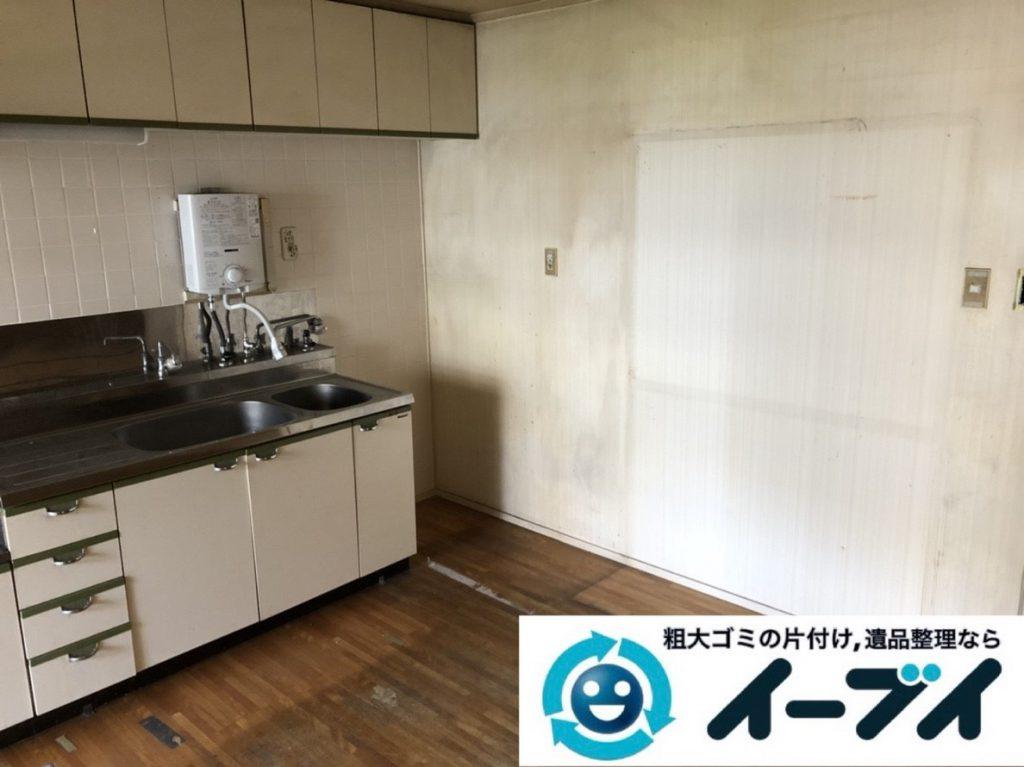 2019年3月25日大阪府大阪市此花区で退去に伴い、お家の家財道具の不用品回収。写真2